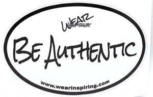 Be Authentic Decal